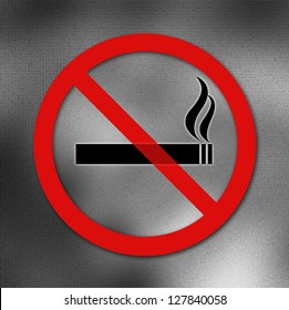 No smoking sign on blurred background