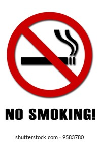 No smoking sign on  isolated background