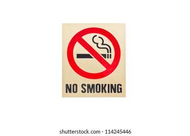 No smoking sign on white background.