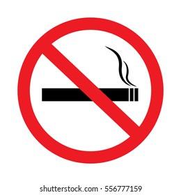 No smoking sign on white background-01