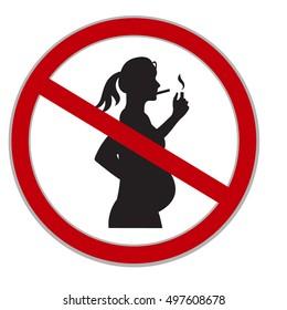 no smoking sign, pregnancy