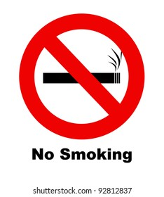 A no smoking sign for use in any smoking inference.