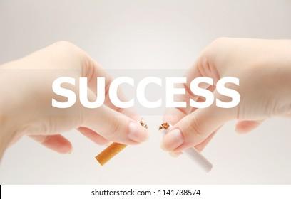 No smoking. Success