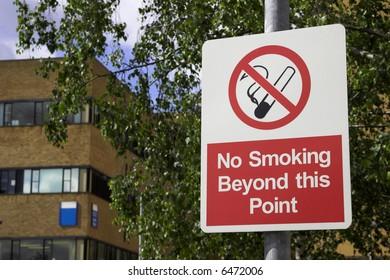 No Smoking Warning Sign