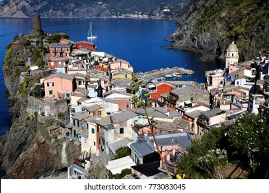 no specified persons but townscape of the famous attractions of the fishing village in Cinque Terre, Italy, July 30, 2015.