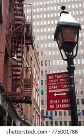 No standing red sign in New York