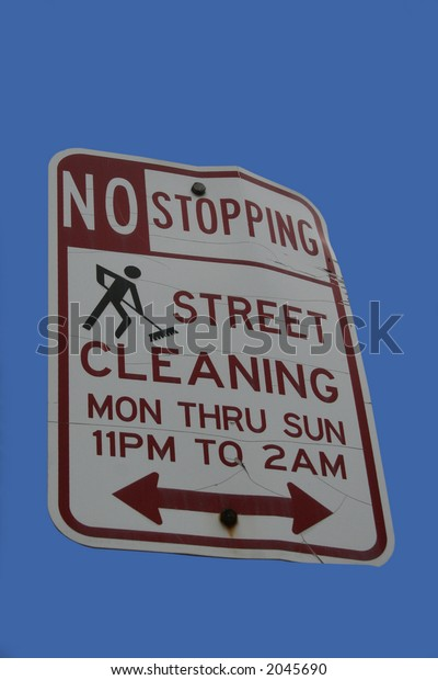 No stopping street cleaning