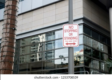 No stopping Street Sign