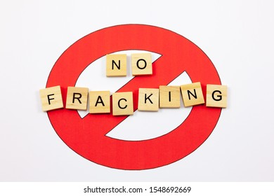 No symbol with the word 'No Fracking' - Anti Fracking Concept