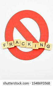 No symbol with the word 'Fracking' - Anti Fracking Concept