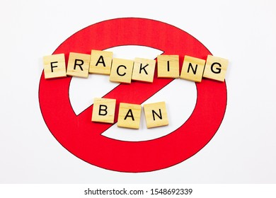 No symbol with the word 'Fracking Ban' - Anti Fracking Concept
