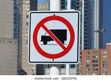 No truck allowed sign