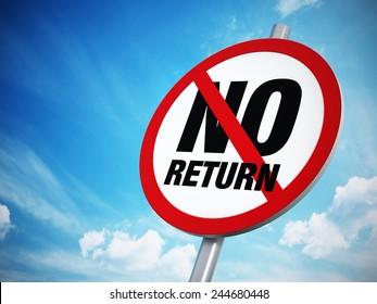 No U-Turn sign against the blue sky