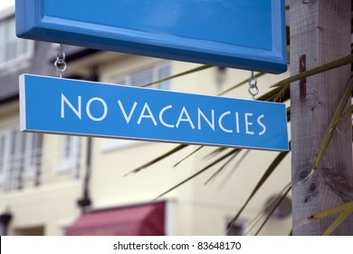 No Vacancies Sign outside of Hotel