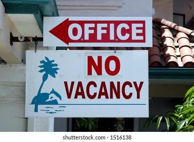 No vacancy.