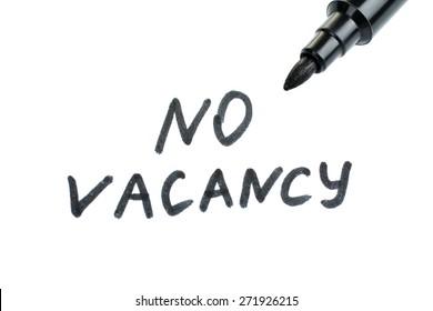 no vacancy written
