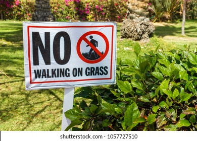 Do Not Walk On The Grass Stock Images, Royalty-Free Images ...