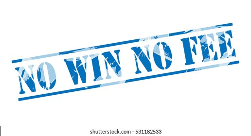 no win no fee blue stamp on white background