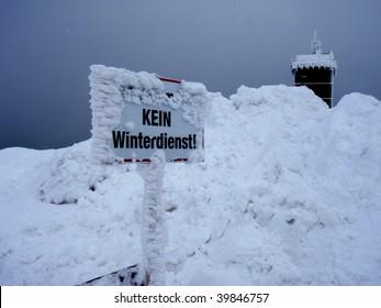 No winter service