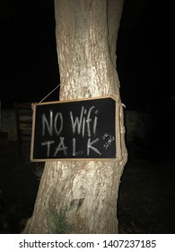 No wlan allowed, please talk or sing.