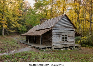 """Noah """"Bud"""" Ogle Place along the Roaring Fork Motor Nature Trail in Great Smoky Mountains National Park, Tennessee"""