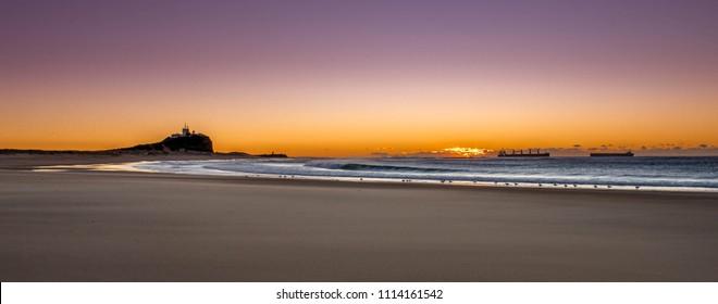 Nobbys Beach and Lighthouse, Newcastle, Australia