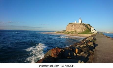 Nobby's headland. breakfast and beach, Newcastle,  Australia