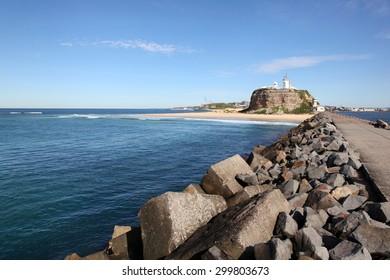 Nobbys Lighthouse - Newcastle Australia. This lighthouse is an iconic landmark of Australia's second oldest city.