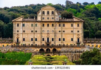 nobility historic palace in Frascati - Villa Aldobrandini - Rome province landmarks in Lazio - Italy .