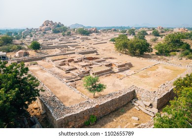 Noblemen's Quaters, Ancient ruins in Hampi, India