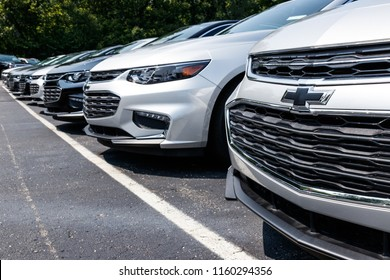 Noblesville - Circa August 2018: Chevrolet Automobile Dealership. Chevy is a Division of General Motors