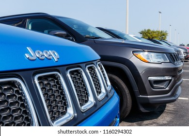 Noblesville - Circa August 2018: Jeep Compass on display at a Chrysler Jeep dealership. The four subsidiaries of Stellantis FCA are Chrysler, Dodge, Jeep and Ram Trucks.