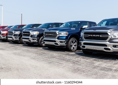 Noblesville - Circa August 2018: Ram 1500 Pickup Trucks at a Dodge dealership. The Ram 1500 Pickup is consistently a top selling truck in the U.S. V