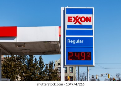 Noblesville - Circa March 2018: Exxon Retail Gas Location. ExxonMobil is the World's Largest Oil and Gas Company II