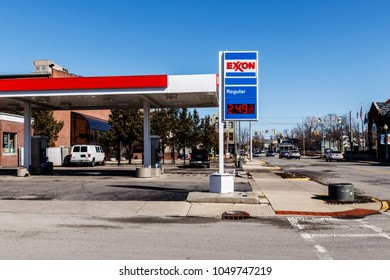 Noblesville - Circa March 2018: Exxon Retail Gas Location. ExxonMobil is the World's Largest Oil and Gas Company I