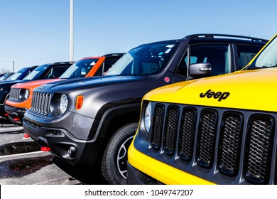 Noblesville - Circa March 2018: Jeep Automobile Dealership. Jeep is a subsidiary of Fiat Chrysler Automobiles. FCA is the parent company of Dodge, Chrysler, and Ram Trucks II