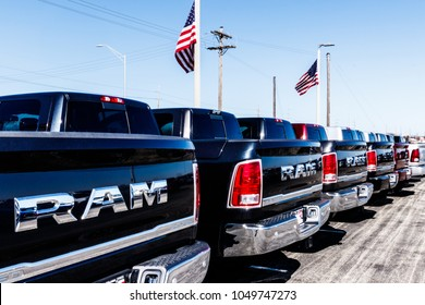 Noblesville - Circa March 2018: Ram Truck Dealership. Ram is a subsidiary of Fiat Chrysler Automobiles. FCA is the parent company of Dodge, Chrysler, and Jeep II