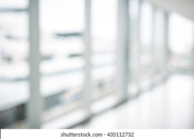 nobody in the blur scene of office building