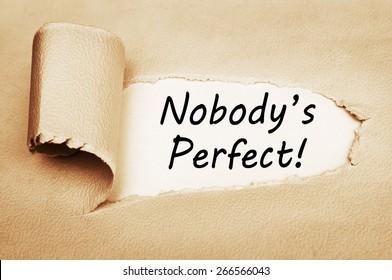 Nobody is perfect images stock photos vectors shutterstock - Nobody is perfect mobel ...
