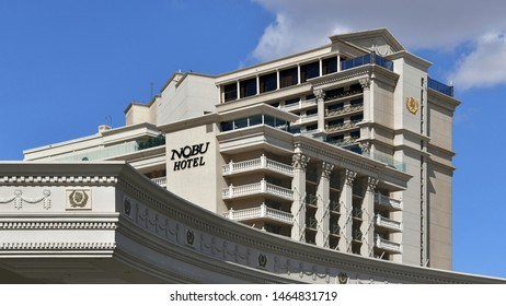 Nobu Hotel. Las Vegas NV, USA. 10-3-18 A 7-minute walk from the bustling Las Vegas Strip, this exclusive Japanese-inspired hotel is inside the Caesars Palace casino complex