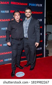 """Nobuaki with Alex Bentley at the premiere of """"Beckman"""" at the Universal Hilton Hotel at Universal Studios Hollywood in Los Angeles, CA on Sept. 21, 2020"""