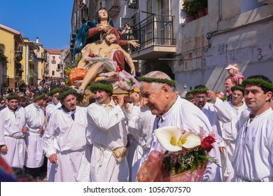 NOCERA TERINESE, ITALY - APRIL 7, 2007 - The Procession of the Madonna Addolorata in the Easter Holy Saturday