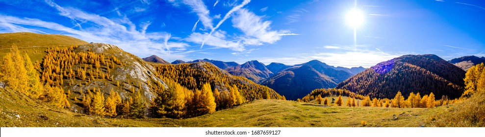 nockberge mountain in austria in autumn