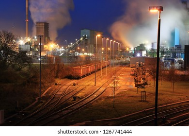 Nocturnal industrial plant