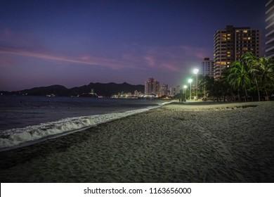 Nocturnal Salguero beach, Colombia