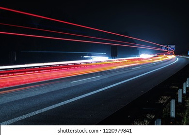 Nocturnal traffic on a German motorway