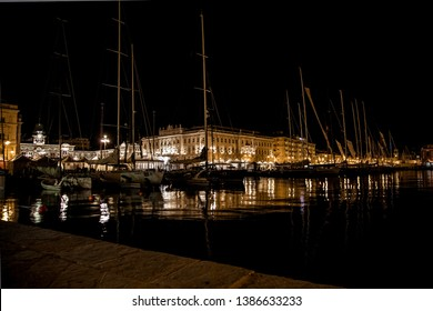 A nocturne view of Trieste during Barcolana Regatta, October 13th, 2013