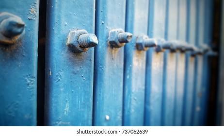 Node of Steel door blue color