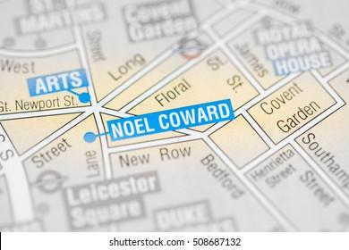 Noel Coward Cinema. London, UK map.