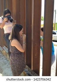 Nogales, Ariz. / US - June 11, 2013: Photographer Samantha Sais documents a bittersweet reunion between Dreamer Evelyn Rivera and her mother, deported earlier, at the US-Mexico border fence.